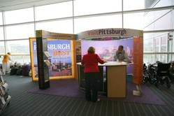 Welcome booth from VisitPittsburgh.