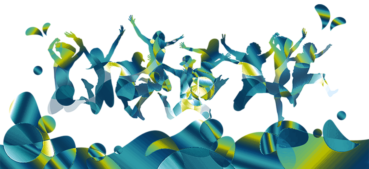 abstract image of children jumping
