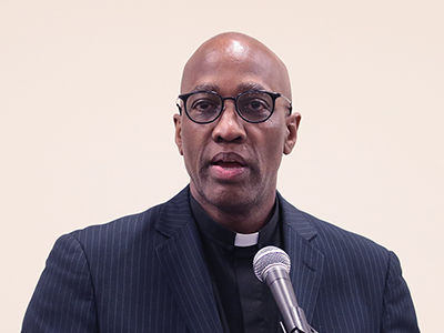 Stated Clerk J. Herbert Nelson, II speaks at an event at the 223rd General Assembly of the Presbyterian Church (U.S.A.) in St. Louis, June 2018.