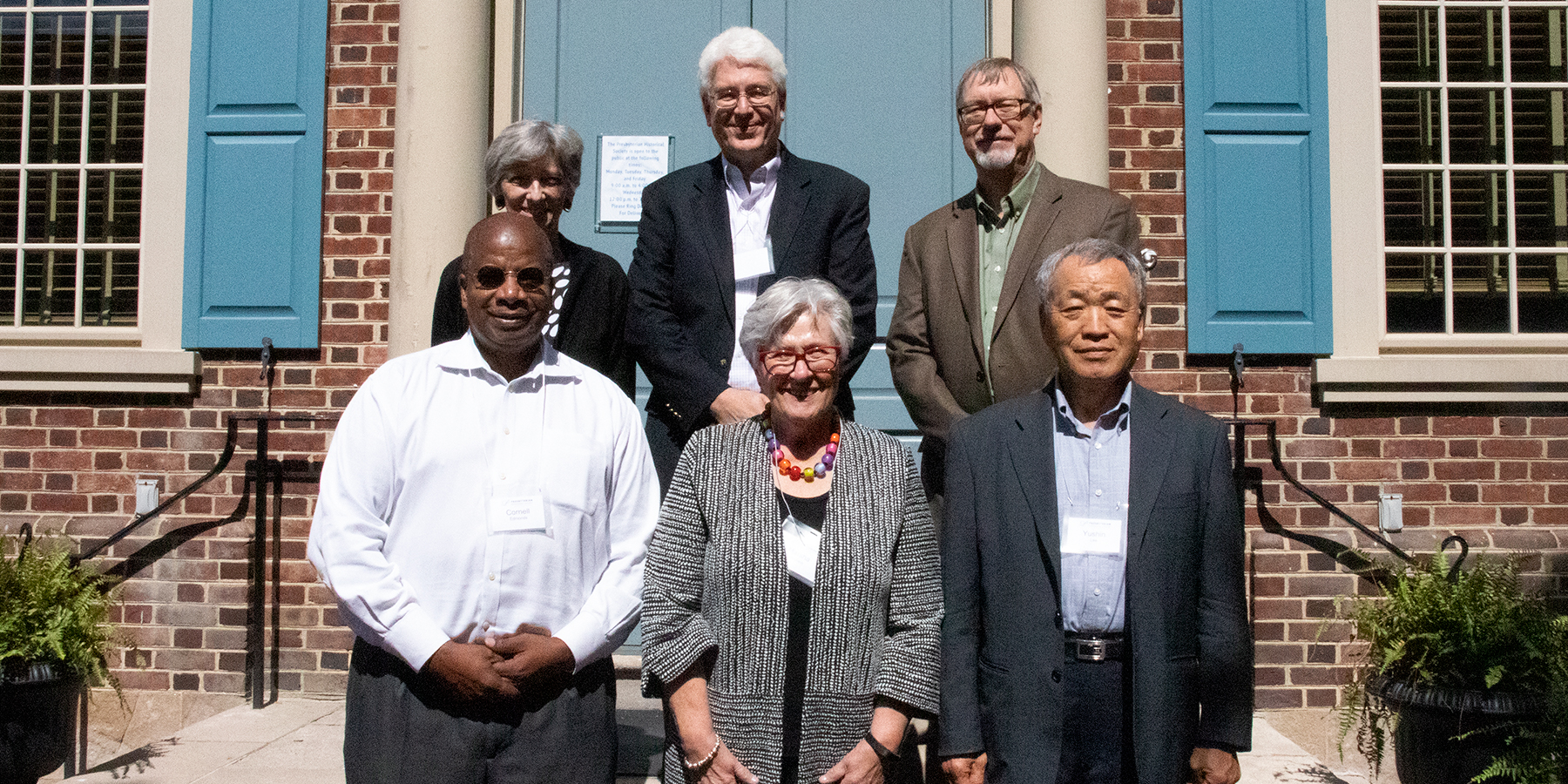 New PHS Board members, September 2019. Front (l to r): Rev. Dr. Cornell Edmonds, Marsha Heimann, Dr. Yushin Lee; Back (l to r): Rev. Cindy Jarvis, Mike Meloy, Tim Hoogland