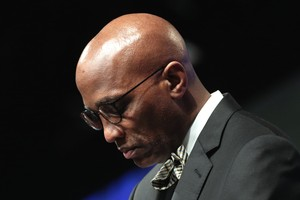 Stated Clerk J. Herbert Nelson, II in prayer at the 223rd General Assembly (2018).