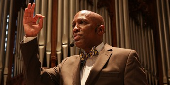 Stated Clerk, Rev. Dr.  J. Herbert Nelson, II Preaching in July 2017 at Big Tent in St. Louis, MO