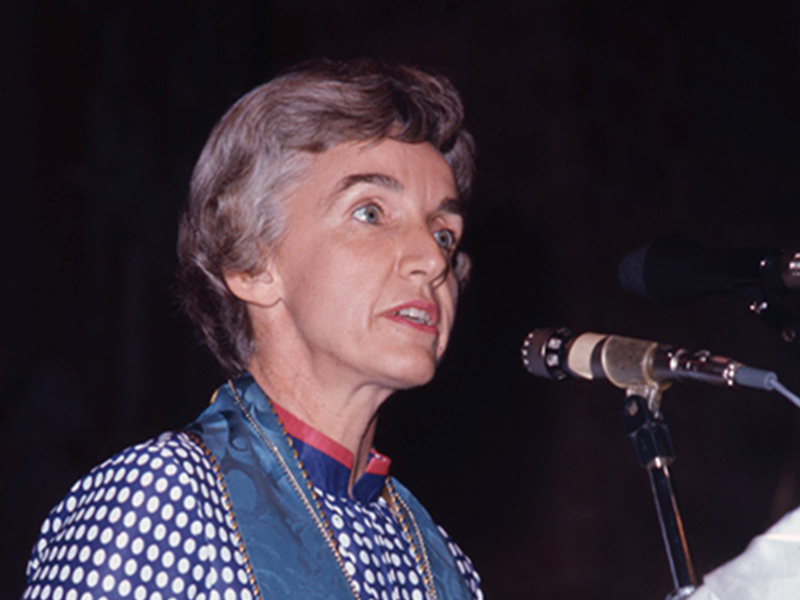 Lois Stair at General Assembly 183 in Rochester, N.Y., 1971. [Pearl ID: 175778]