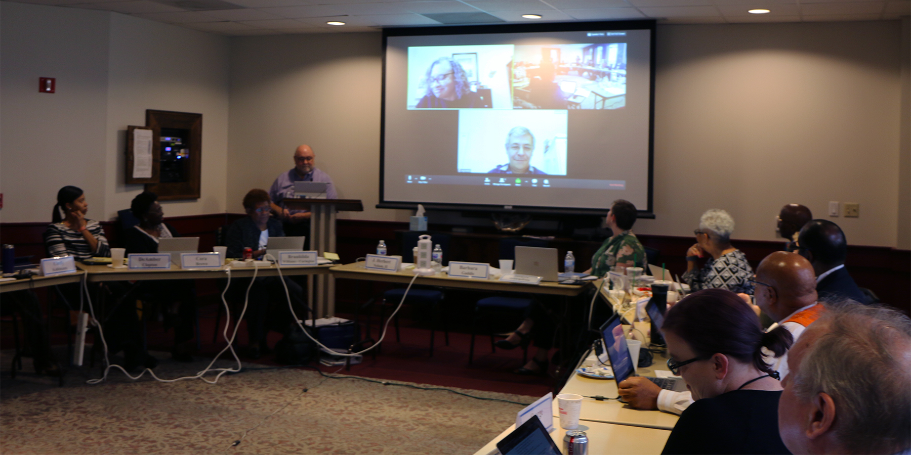 COGA took part in a video conference call with the co-moderators of the Moving Forward Implementation Commission on Tuesday in Houston. Photo by Rick Jones.