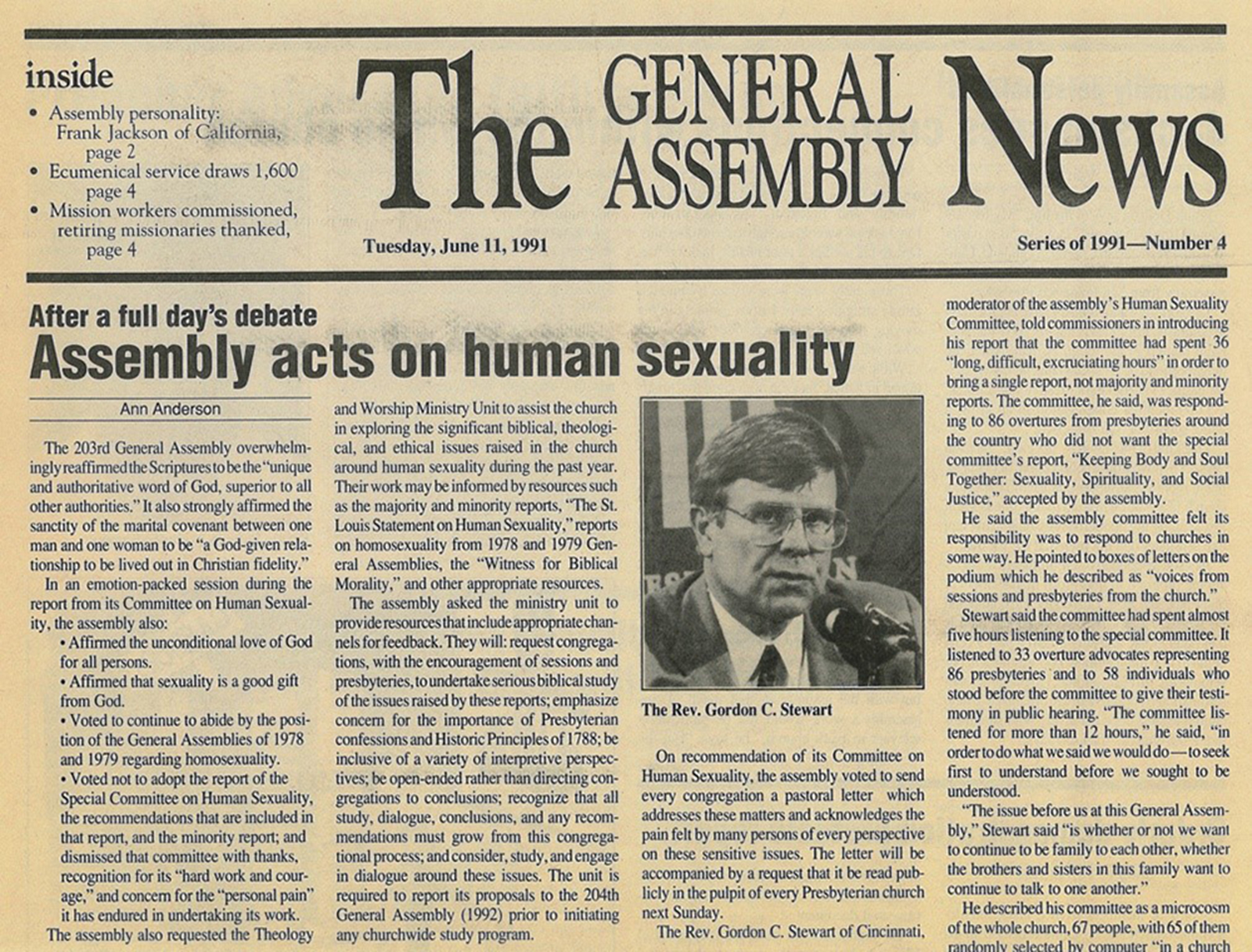 """GA Daily News,"" July 11, 1991. From PHS collections."