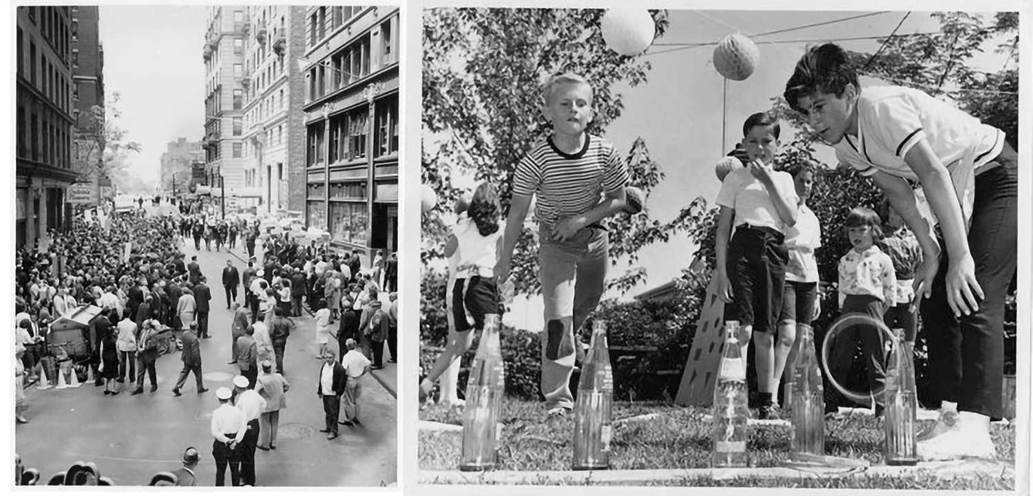 Images from the Religious News Service Collection. Left: March for education equality, Boston, MA, 1965. [Pearl ID: 151651] Right: Children's carnival to raise funds for foreign mission, Massapequa, NY, 1965. [Pearl ID: 151467]