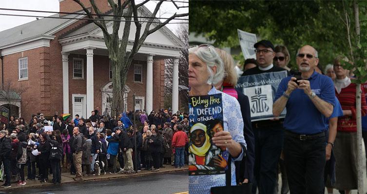 presbyterians protesting deportation threats to members