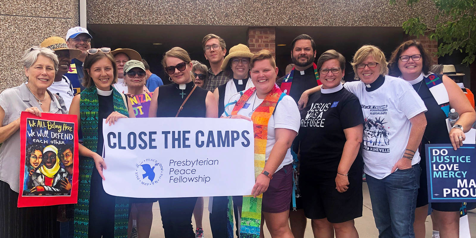 A delegation from Southside Presbyterian Church in Tucson, Arizona, took part in the Moral Monday demonstration outside of the U.S. Immigration and Custom Enforcement processing center in El Paso, Texas. Photo by the Reverend Alison Harrington.