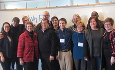 Group photo of the Way Forward Commission (minus Emily Marie Williams, who had to leave) and support staff at December 2016 meeting. (Photo by Leslie Scanlon)