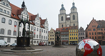 The Church Square in Wittenberg, birthplace of the Protestant Reformation 500 years ago.