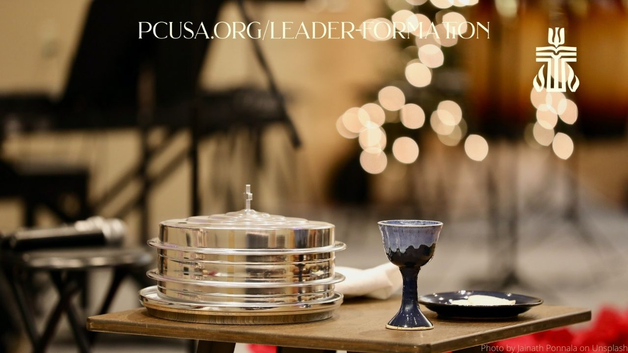 Year in Leader Formation Zoom Background Communion Table