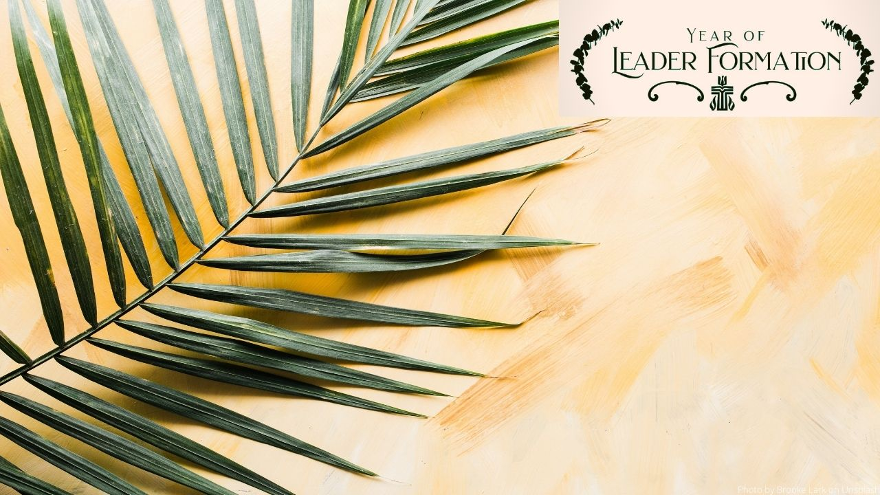 Year in Leader Formation Zoom Background Palm
