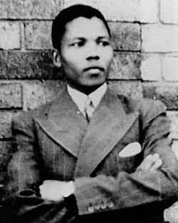 Young Nelson Mandela.