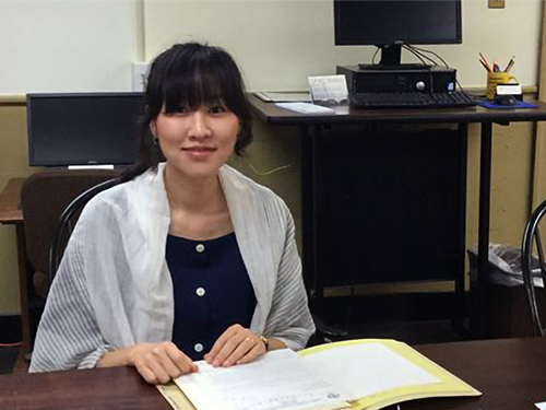 PHS Research Fellow Youngeun Koo in the Reading Room, 2018. Read about her time at PHS and her research on adoption in Korea in the 1960s and 1970s through ECLAIR.