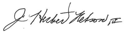 J. Herbert Nelson Signature