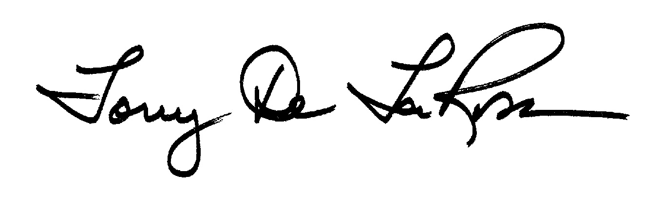 Tony De La Rosa Signature