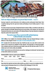 Sandy appeal bulletin insert