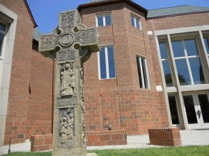 Custom made Celtic cross at Union Presbyterian Seminary