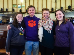 Photo from Montreat College Conference of Lauren with the other seniors from the Clemson PSA (a UKIRK ministry) group From Left to Right: Annie Carew, Alex Davis, Emi Lungmus, Lauren Rye